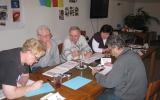 Skupinová práce klientů motivačního kurzu Valašské Meziříčí - únor 2014 - 2