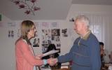 Předávání osvědčení o absolvování motivačního kurzu Valašské Meziříčí 01 - únor 2014 - 1