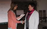 Předávání osvědčení o absolvování motivačního kurzu Valašské Meziříčí 01 - únor 2014 - 2