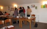 Skupinová práce klientů motivačního kurzu Valašské Meziříčí - květen 2014